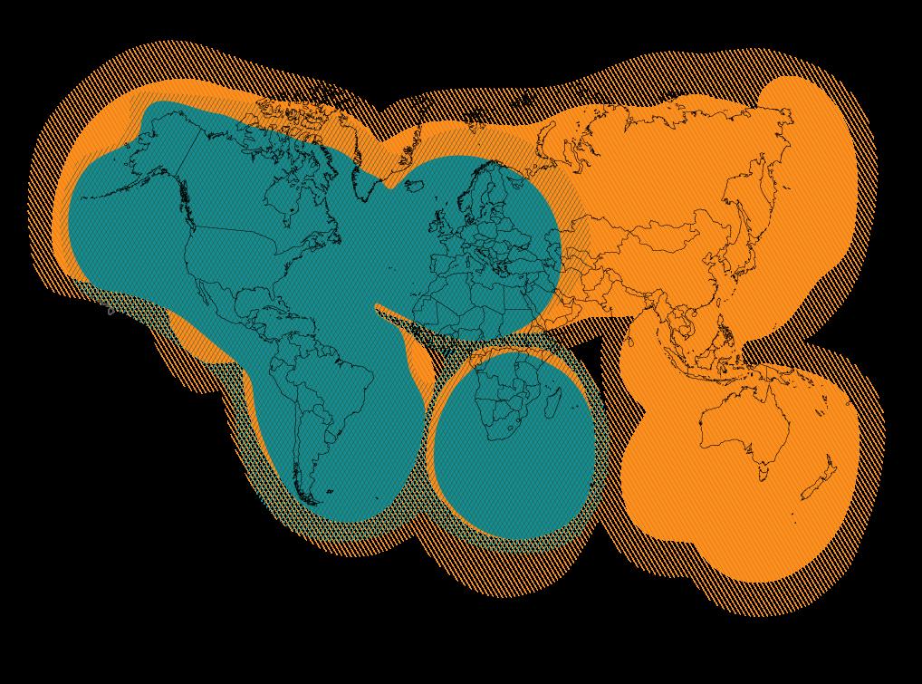 Globalstar Coverage Map - SPOTX