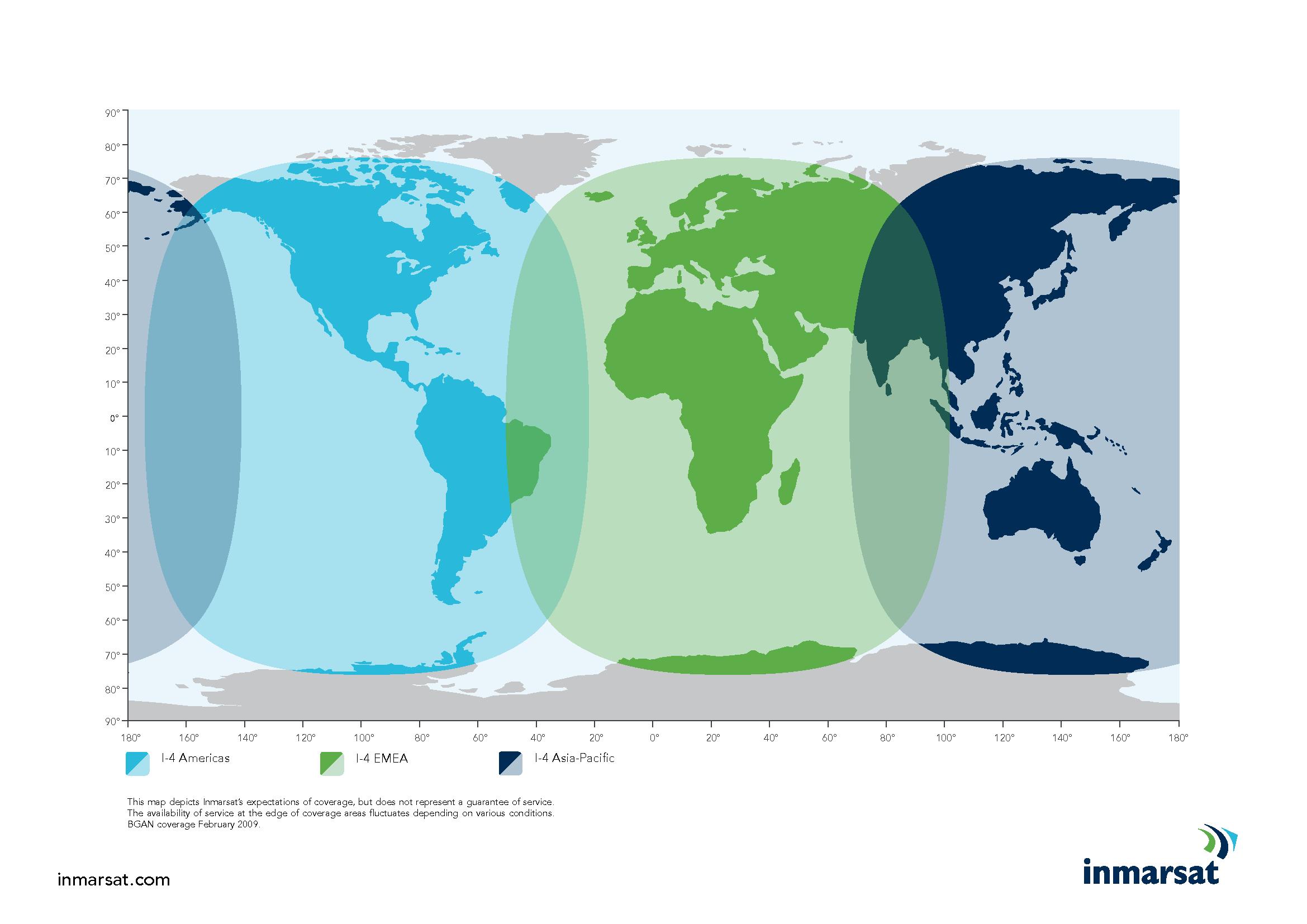 Inmarsat Coverage Map