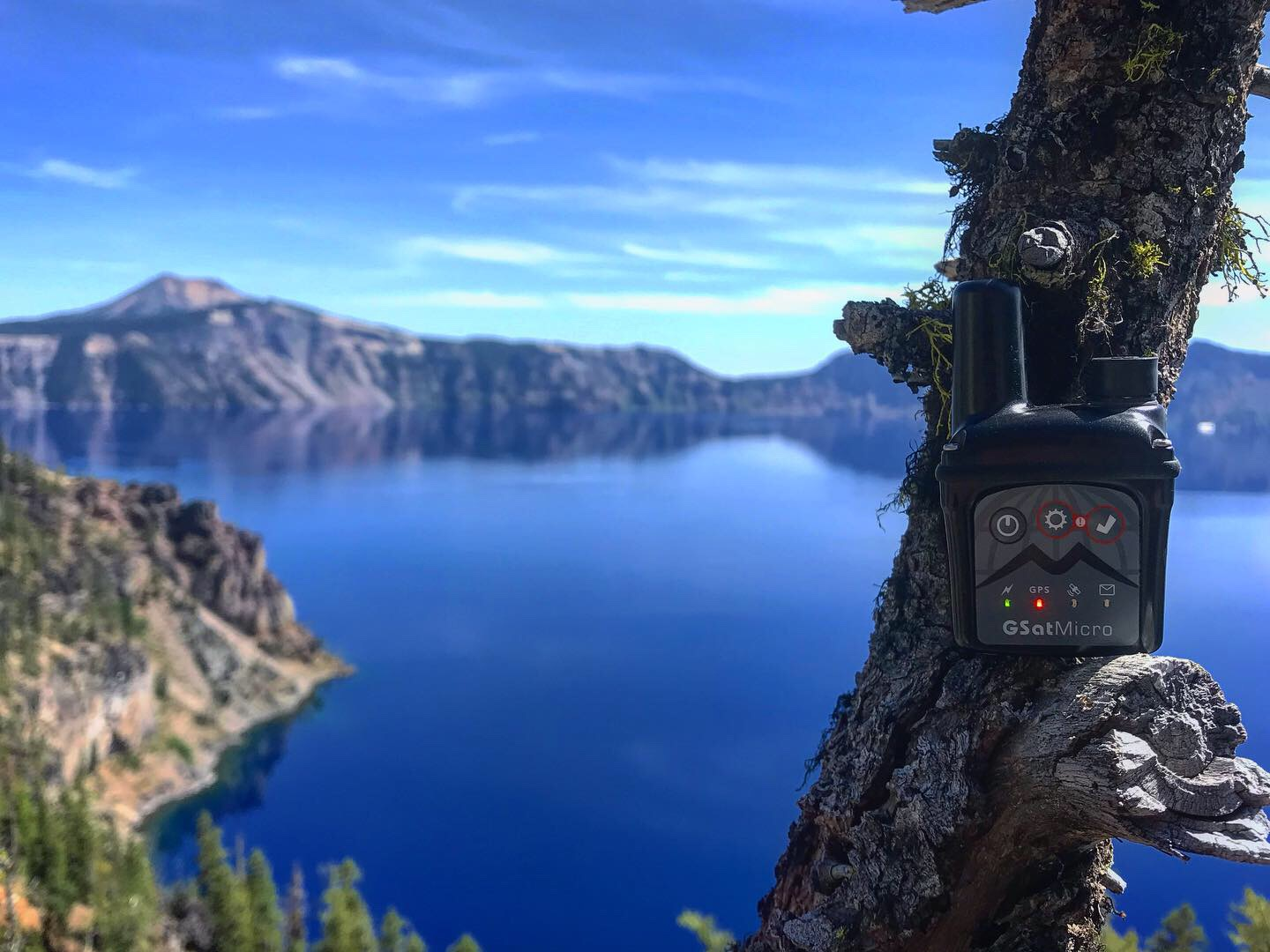 GSatMicro - Tracking at Crater Lake, Oregon