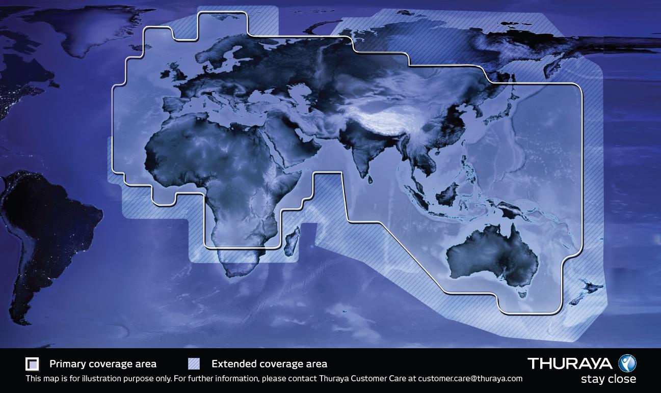 Thuraya Coverage Map